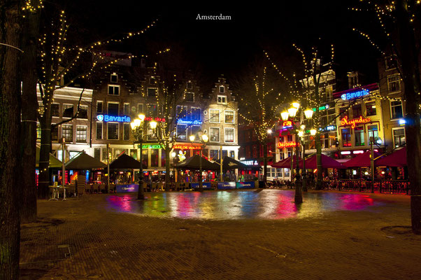 Leidse plein Leidse square Amsterdam The Netherlands Cityscape