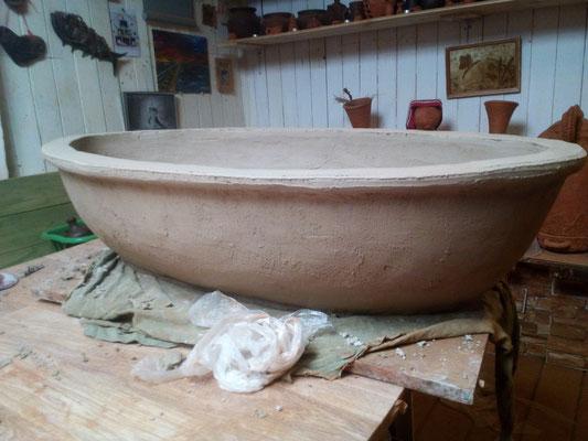 большие глиняные горшки на заказ, гончарная мастерская