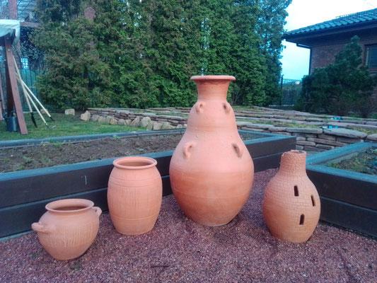 изготовление больших глиняных горшков, гончарная мастерская кнор