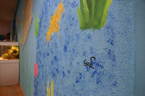 Wandbemalung Zootierfachgeschäft in Lahnstein Aquarien