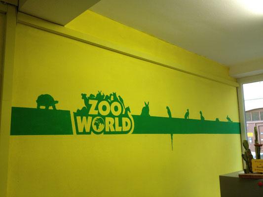 Wandbemalung Zootierfachgeschäft Logo