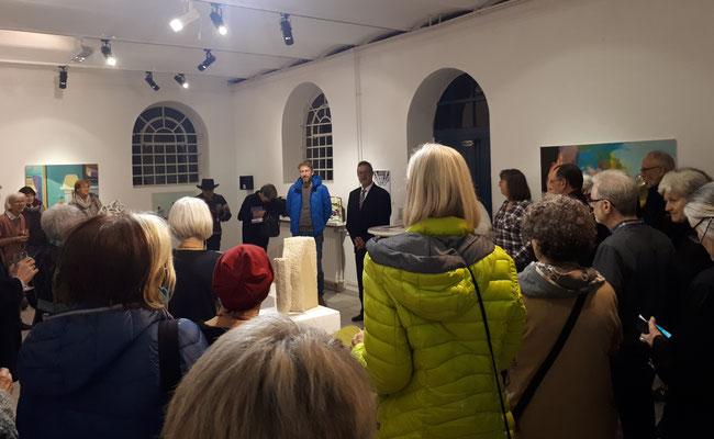 Impression von der Vernissage am 30.11.2018 im H6 - Haus Hildener Künstler