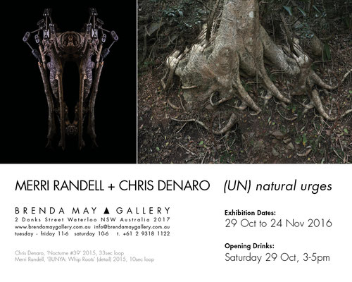 2016 [UN] natural Urges exhibition @ Brenda May, Sydney:  All work to date except 'GASH'