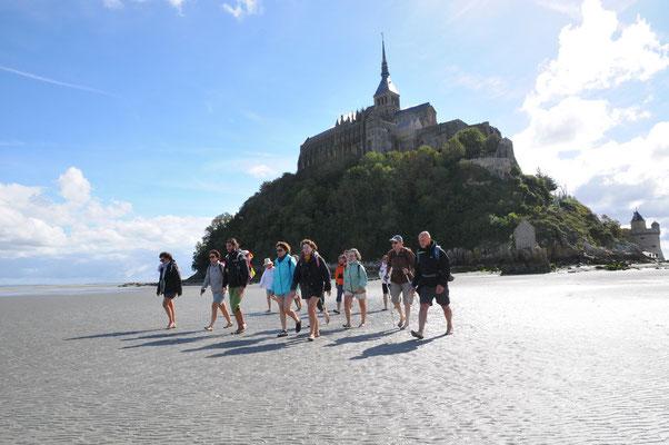 Départ du Mont-Saiont-Michel