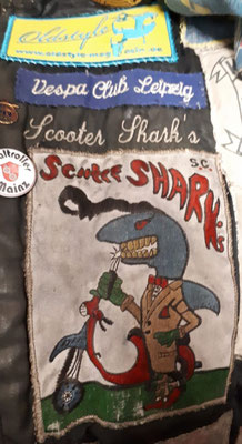 Mit Stolz getragen: Der Patch der Aachener Scooter Shark`s.