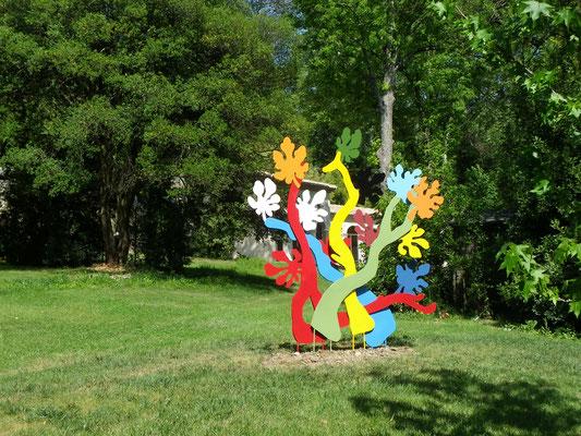Figuier  métal peint 2.50m x 2.50m  propriété Jardin des Oules