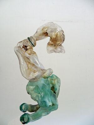 Le pénitent - sculpture plastique PET 25cm x 25cm