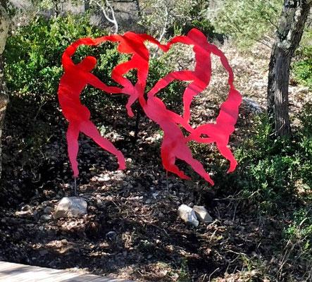 métal peint hommage à Matisse