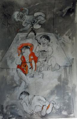 ALEP acrylique sur toile 185 x 120