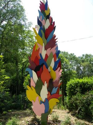 cyprès métal peint H4.00m x 1.30m propriété Jardin des Oules
