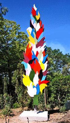 cyprès métal peint H4.00m propriété Jardin des Oules