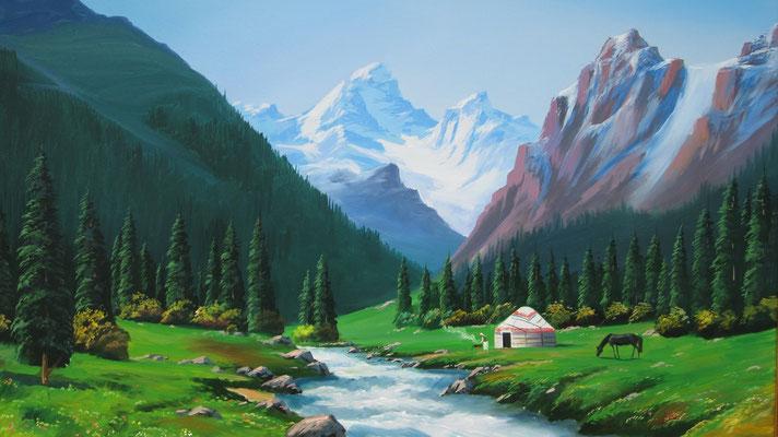 Painting for sale - Dubovy Park - Bishkek - Kyrgyzstan