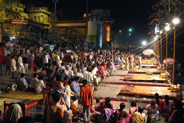 Ganga Aarti Ceremony at Dasaswamedh Ghat - Varanasi - Uttar Pradesh