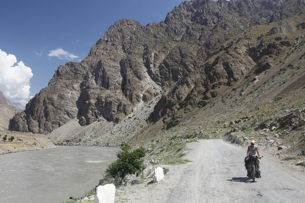Pamir Highway east of Kalaichum - Tajikistan