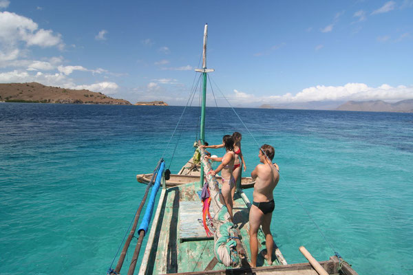 Chartered sailing boat to Flores - Snorkeling near Komodo Island