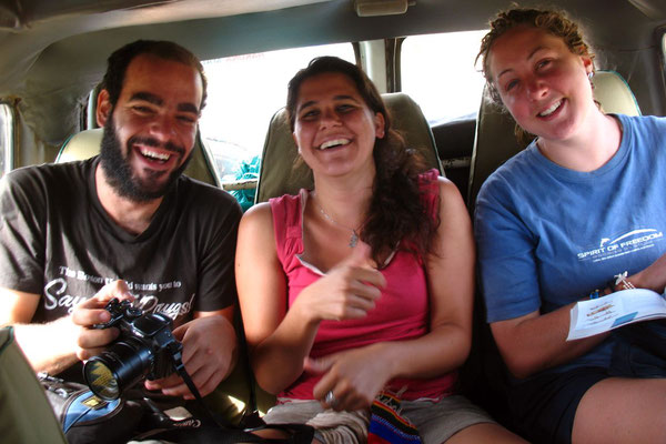 Shlomi, Tal and Jane - Serengeti National Park
