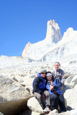 Mewes, Astrid and me at Torre Sur - Torres del Paine National Park