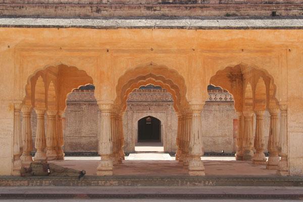 Inner courtyardat Amber Palace - Rajasthan