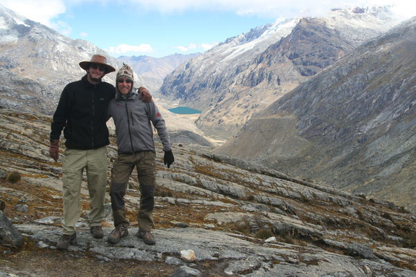 Vladimir and me at 4,750 m - Santa Cruz Trek - Cordillera Blanca