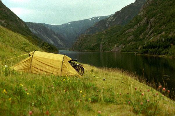Camp at Röldalsvatnet - Hordaland Province - Southwestern Norway