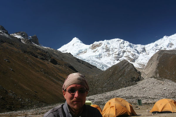 Me at Tocclaraju Base Camp - 4,350 m - Cordillera Blanca