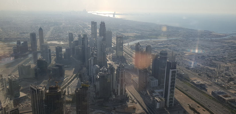 View from Burj Khalifa - Dubai