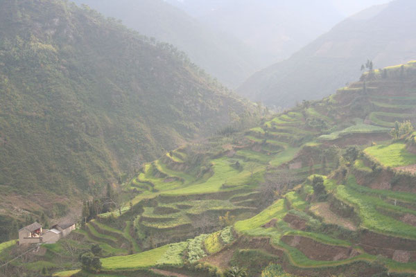 Valleys at western Yunnan Province