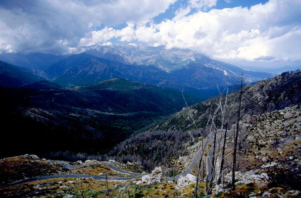 Cycling Col de Sorba 1,311 m - Central Corsica