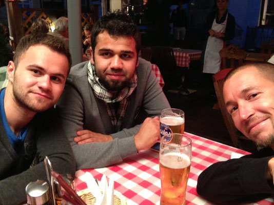 Hasret, Mehmet and me at Raekoja plats - Tallinn Old Town - Estonia