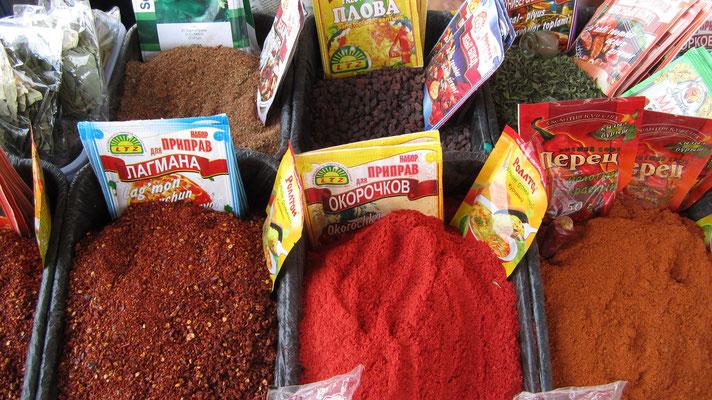 Spices at Krytyy Rynok Market - Samarkand - Uzbekistan
