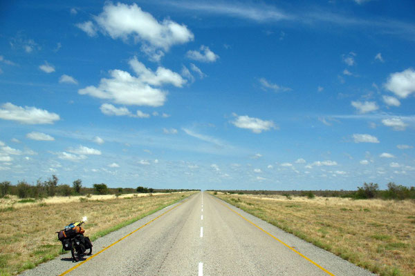 Cycling Nata-Maun Highway