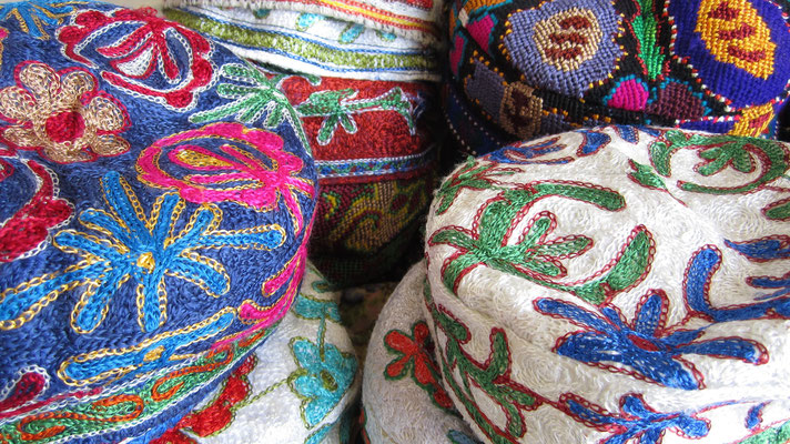 Traditional hats - Samarkand - Uzbekistan