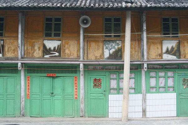 Roadside houses - Yunnan Province