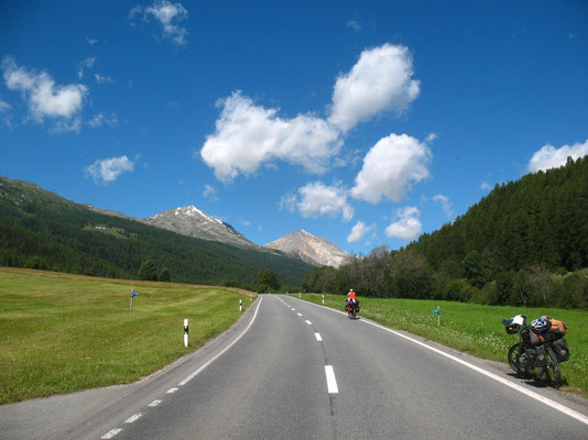 Cycling Ofen Pass 2,149 m - Engadin - Switzerland