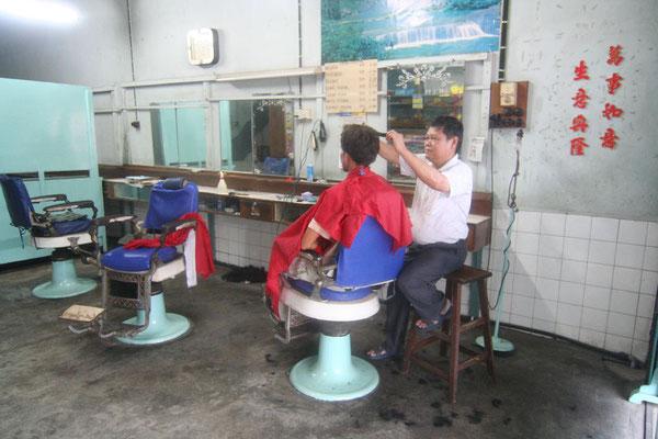 Chinese barbershop - Pengkalan Hulu - Northwestern Malaysia