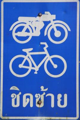 Thai road sign - Phang-Nga Province