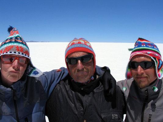 Jeannette, Harald and me - Salar de Uyuni