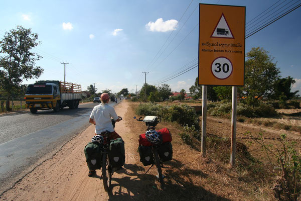 Entering Beer Lao Country - Laos