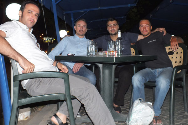 Novid, Robin, James and me in Yerevan, Armenia