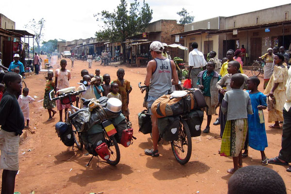 Stop in a small village - Mubende Province