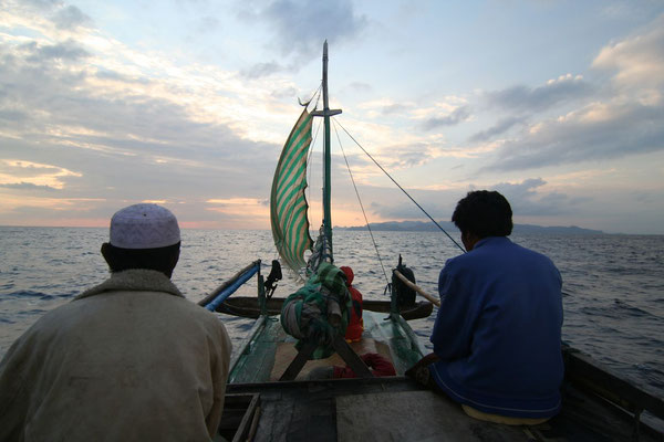 Chartered sailing boat to Komodo - Indian Ocean