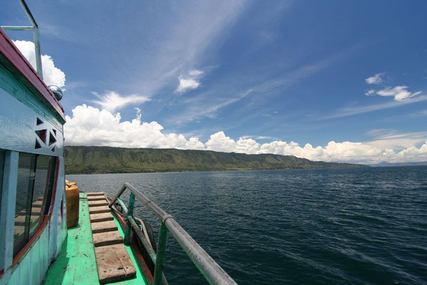 Boat ride to Samosir Island - Lake Toba - Northern Sumatra