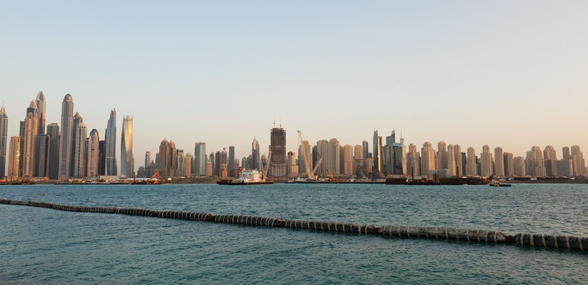 Dubai Marina - View from The Palm Jumeirah - Dubai