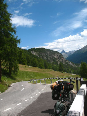 Cycling Albula Pass 2,312 m - Canton of Grisons - Switzerland