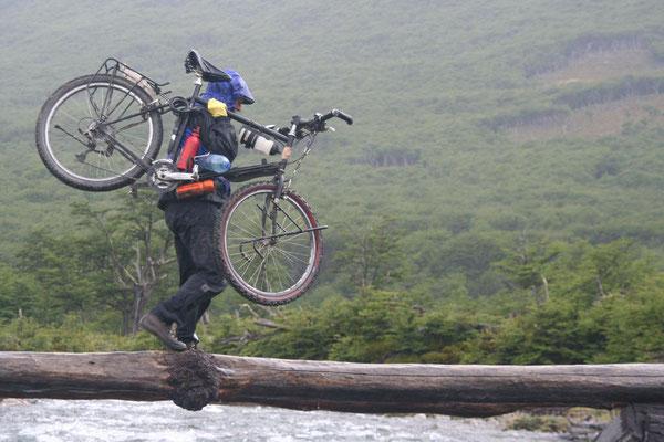 Crossing a rapid stream