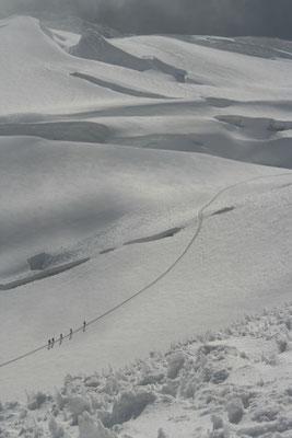 Heading back - Huayna Potosi - Cordillera Real