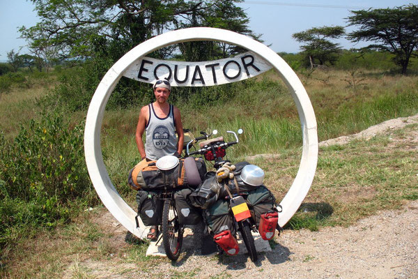 Crossing the Equator again - Kasese Province
