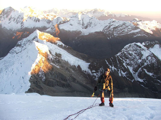 Sunrise at Tocclaraju - Cordillera Blanca