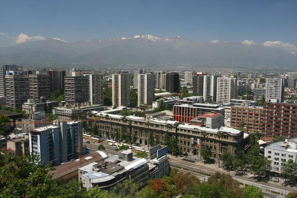 Santiago - View from Cerro Santa Lucia