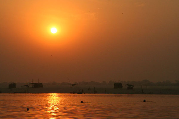 Sunset at Ganges River - Varanasi - Uttar Pradesh